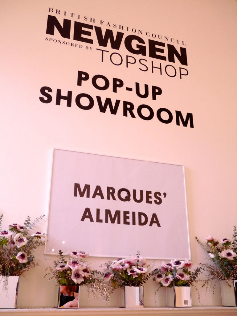 Newgen showroom London Fashion Week Marques Almeida