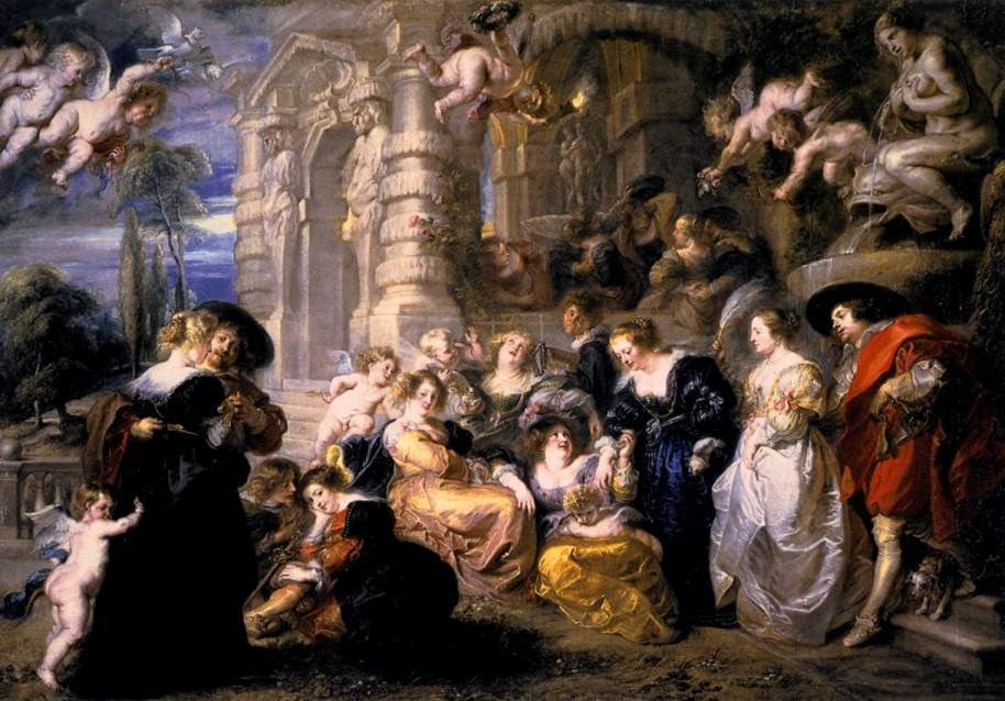 Garden of Love, Rubens, Emma J Shipley Romantic Art