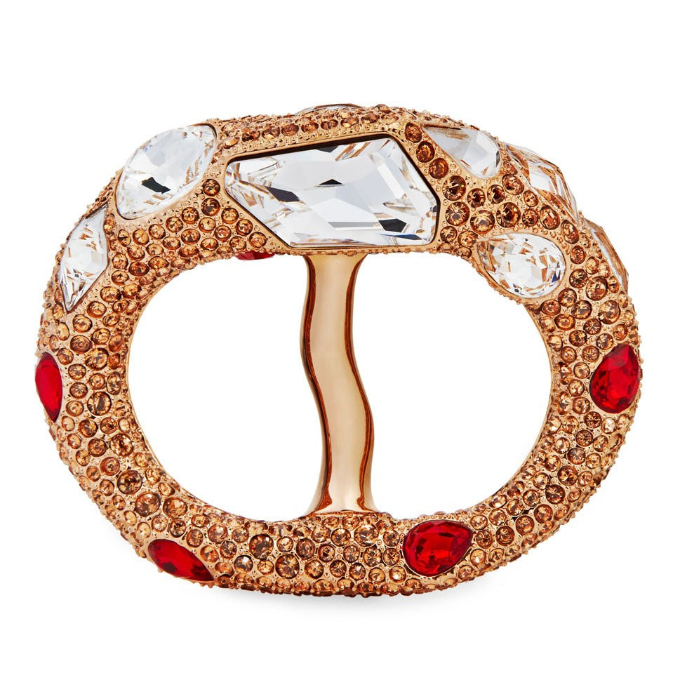 Atelier Swarovski by Emma J Shipley, Petra Double Scarf Ring in Red Magma