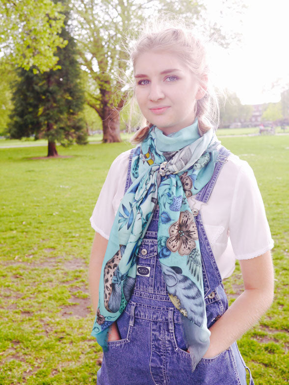 Emma J Shipley Blog Summer Scarf Styling Frith Modal Blend Scarf and Atelier Swarovski Scarf Ring 1