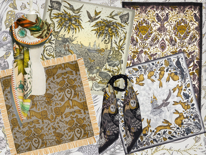 Glorious gold! Subtle yellow and golden tones are often found in Emma J Shipley scarves, including some of our most popular designs and our new Fable collection pieces...