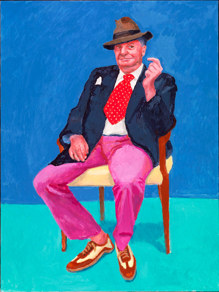 David Hockney RA, 'Barry Humphries', 26-28 March 2015. Acrylic on canvas. Copyright David Hockney. Photo credit: Richard Schmidt.