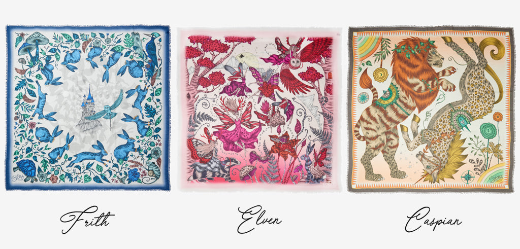 Discover the three fantastical designs in the Fable collection: Frith, Elven and Caspian - all hand drawn by Emma J Shipley