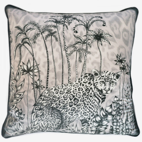 The Jaguar Large Cushion, by luxury designer and illustrator Emma J Shipley.