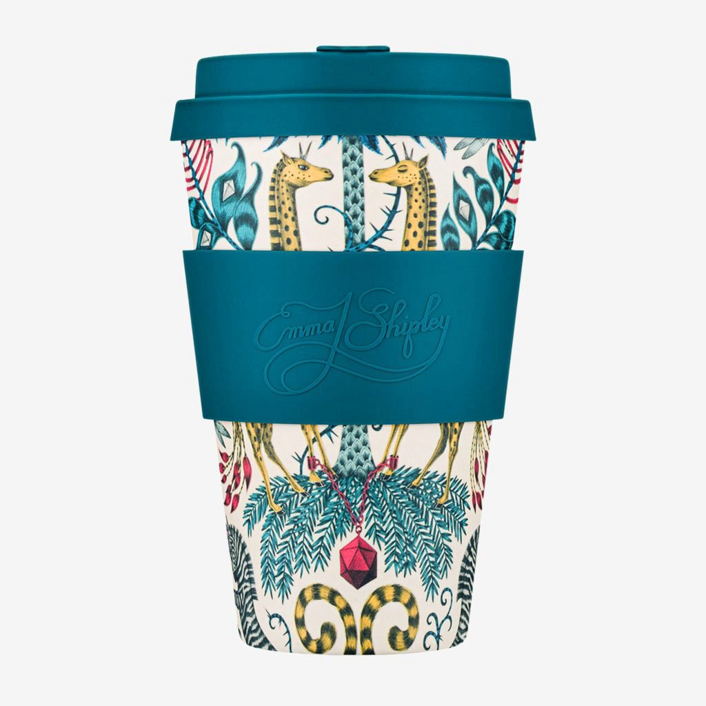 The Emma J Shipley Kruger Ecoffee Cup is perfect for adding a touch of the exotic to your everyday life