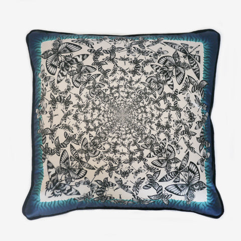 The Papilio Cushion by luxury designer and illustrator Emma J Shipley.
