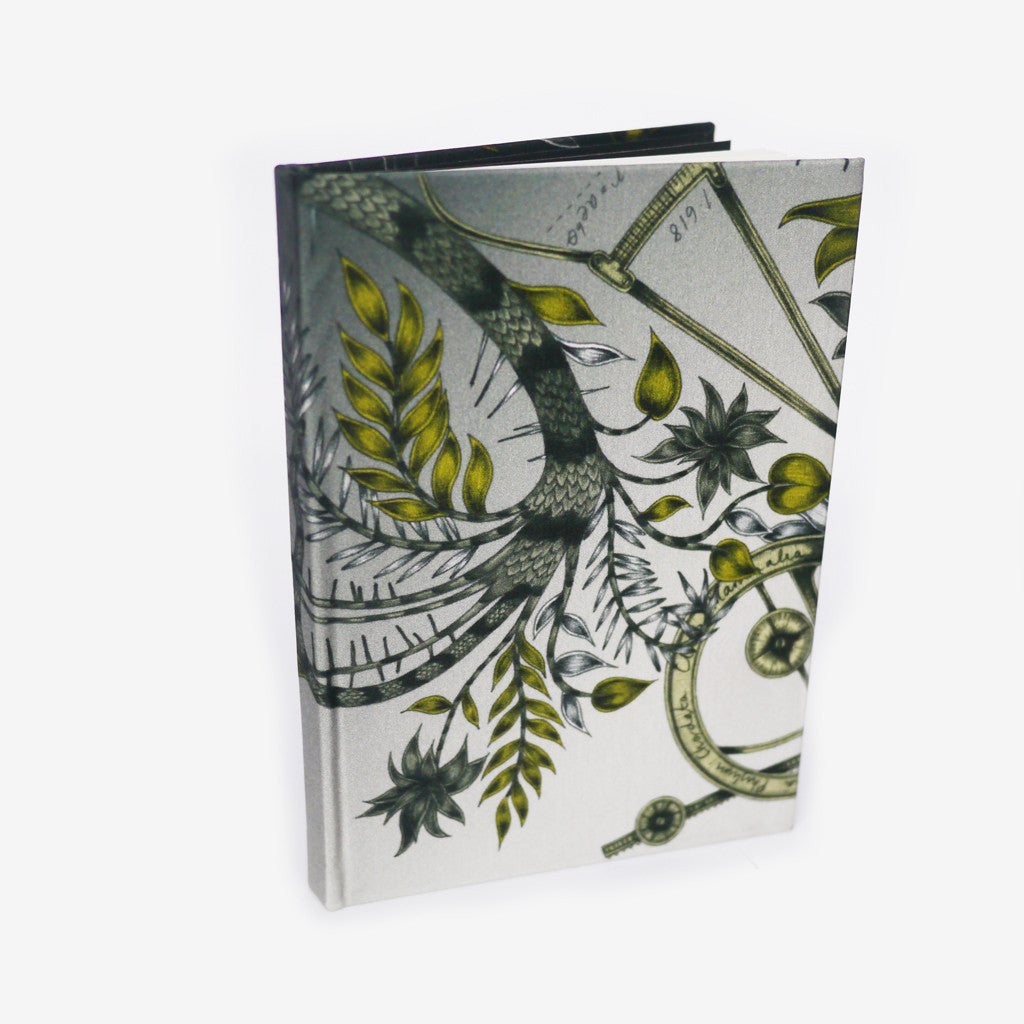 This exotic notebook is sustainably made using leftover silk and cotton from our scarf and cushion production