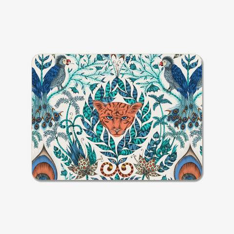 The beautiful blue Amazon Placemat created in collaboration with Jamida and designed by Emma J Shipley