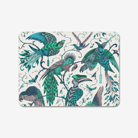 The striking lime Audubon Placemat designed by Emma J Shipley in a collaboration with Jamid