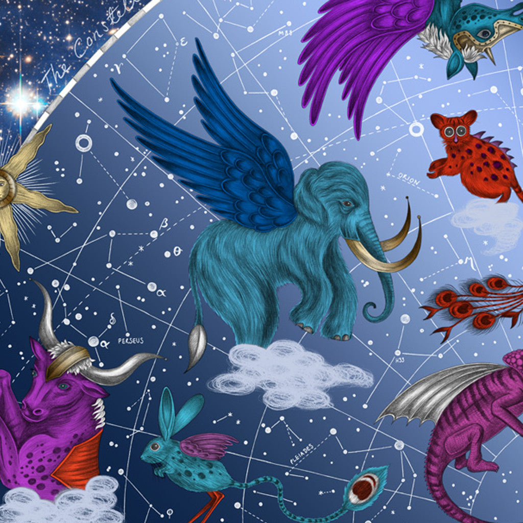 The Constellation illustration by Emma J Shipley is inspired by ancient mythology, astronomy and prehistorical animals.