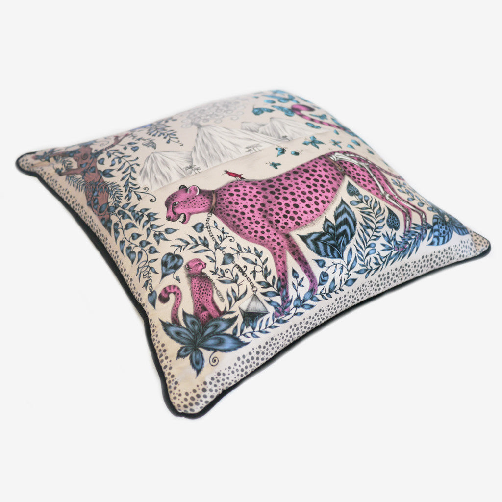 Jungle inspired pillows by luxury designer and illustrator Emma J Shipley