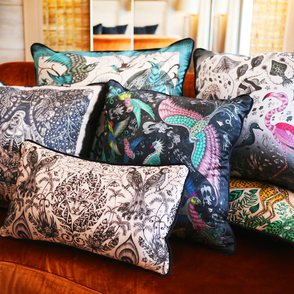 Beautiful, luxury cushions designed by Emma J Shipley