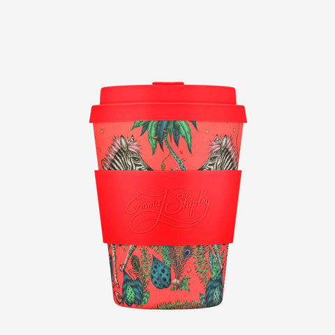 The Emma J Shipley Lost World Ecoffee Cup is the perfect way to inject a vivid splash of colour and sustainable design into your life