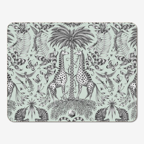 The meticulously hand drawn Kruger design upon a placemat created by Emma J Shipley x Jamida