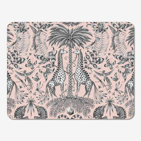 The pink Kruger Placemat, created in collaboration with Jamida, designed by Emma J Shipley