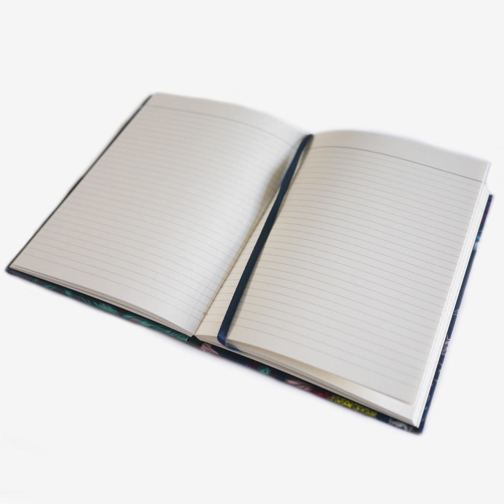 The notebooks are filled with heavyweight lined paper.