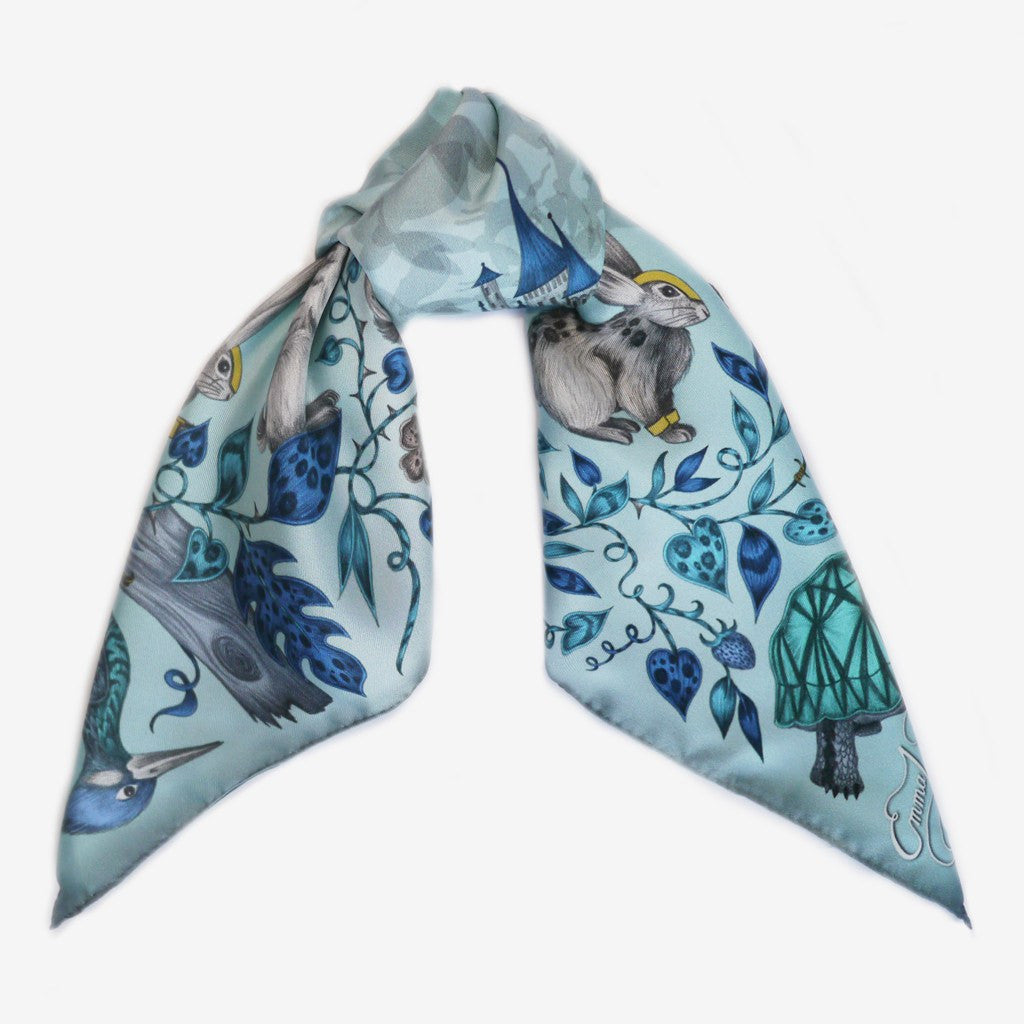 How to tie and style a silk neckerchief scarf by Emma J Shipley