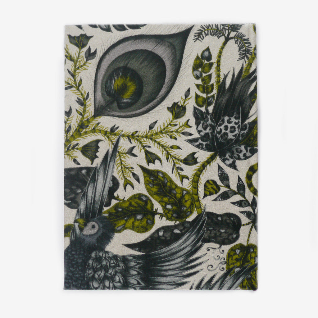 Silk covered notebooks inspired by animals in nature, by Emma J Shipley
