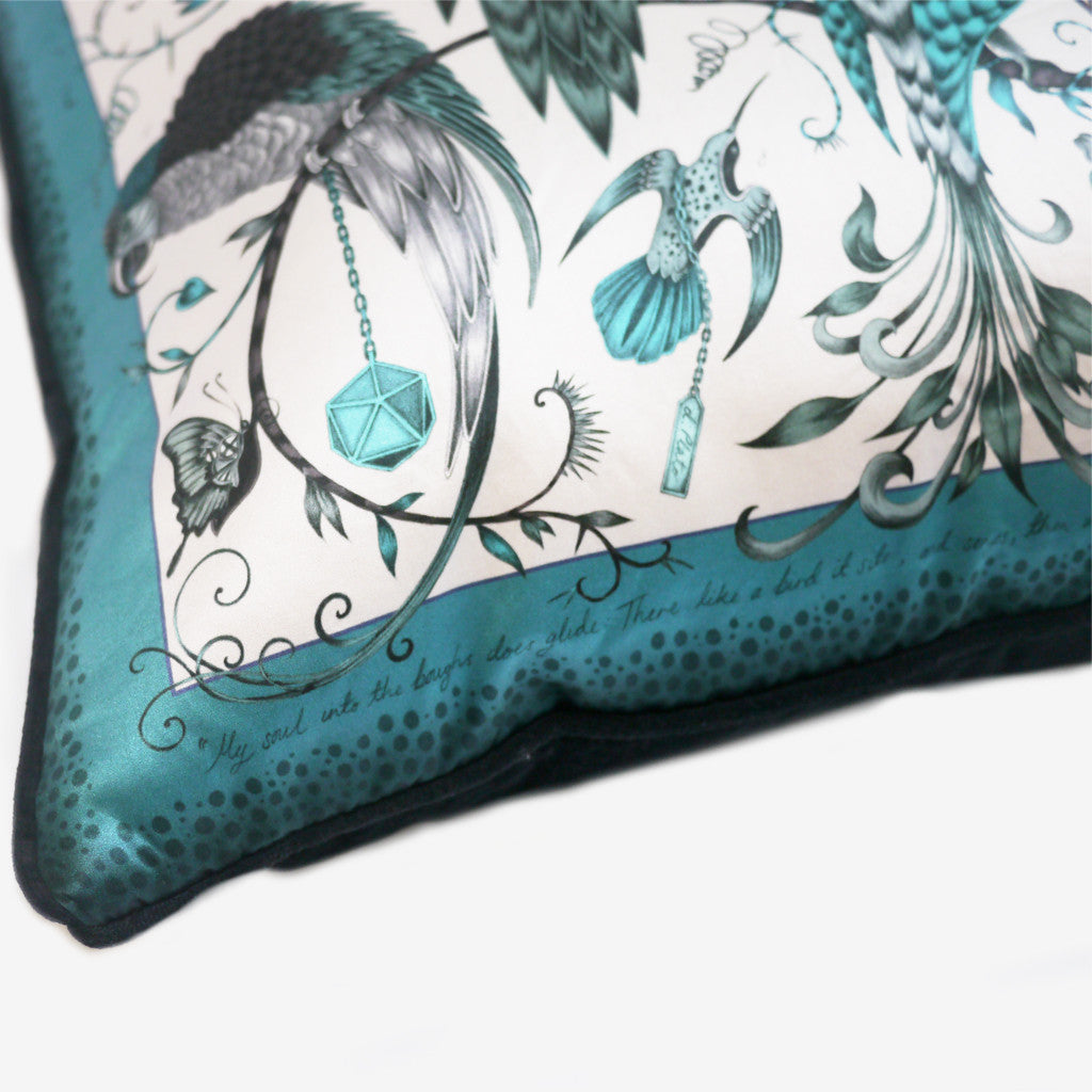 Bird inspired cushions by luxury designer and illustrator Emma J Shipley