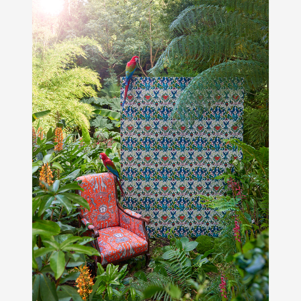 Magical campaign images of The Amazon wallpaper designed by Emma J Shipley x Clarke & Clarke