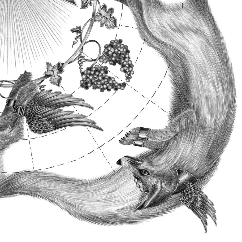 Incredibly intricate arctic fox drawing skills demonstrated by artist Emma J Shipley
