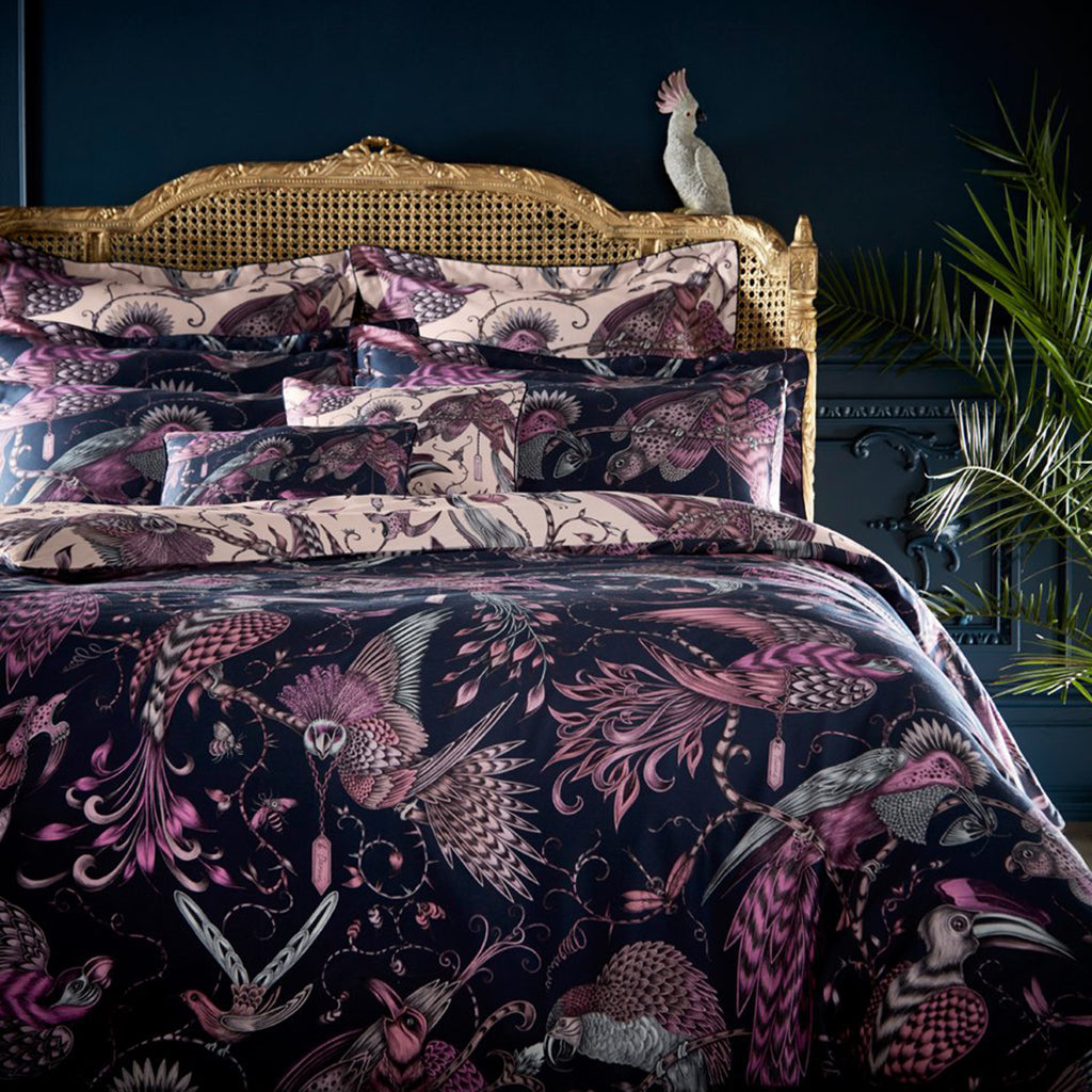 Audubon Boudoir Pillowcase - Navy