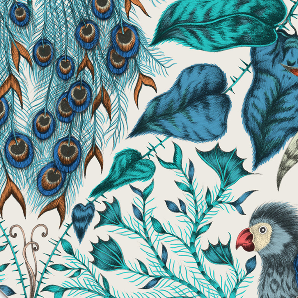 Take a closer look at the beautiful details of the Amazon Coaster designed by Emma J Shipley for Jamida