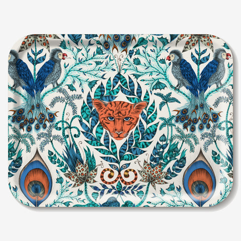 Artist and designer Emma J Shipley designed the Amazon tray featuring tropical plants and creatures