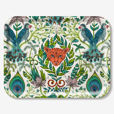 Emma J Shipley designed the Amazon tray featuring jungle creatures and tropical plants