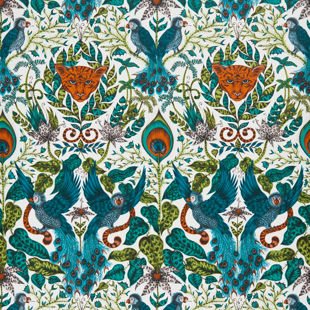 Detailed, magical, tropical and exotic; the Amazon wallpaper designed by Emma J Shipley x Clarke & Clarke