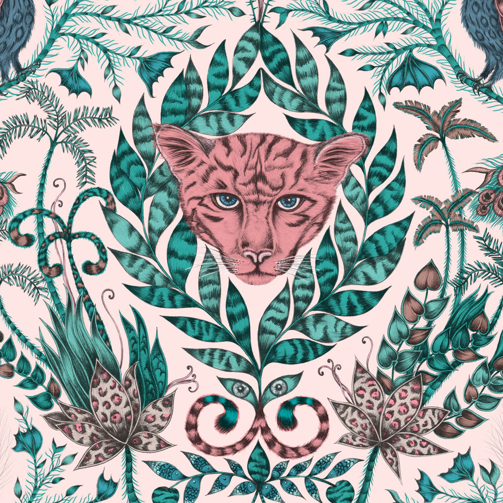 Take a closer look at the ferocious jaguar within the Amazon Placemat designed by Emma J Shipley in collaboration with Jamida