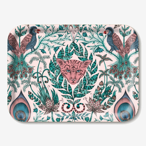 The Amazon tray features hand drawn creatures and plants inspired by the rainforest, created by Emma J Shipley