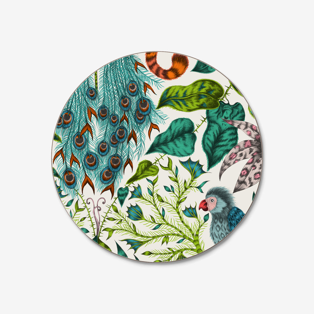 The beautiful exotic Amazon Coasters were created by Emma J Shipley with Jamida. This gloss non-stick coaster is a perfect tropical beauty