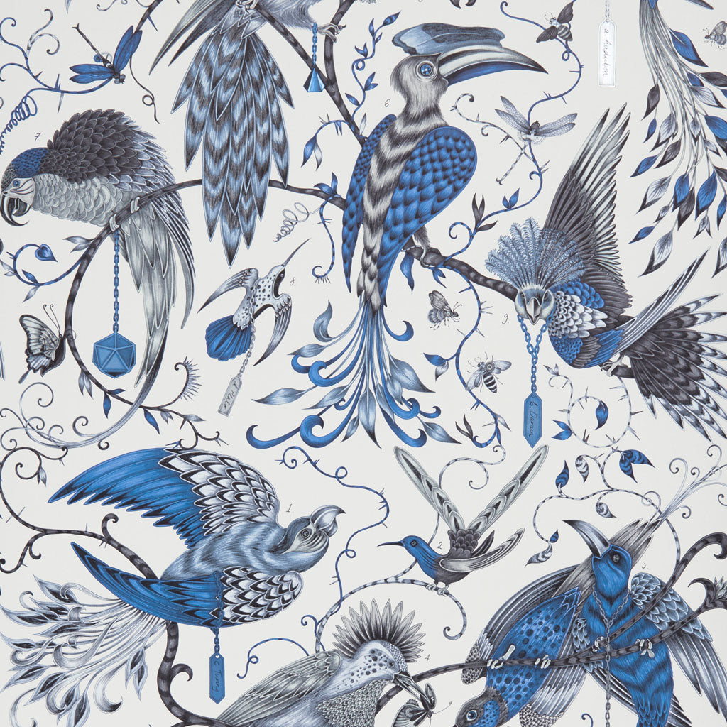 The beautiful Audubon wallpaper designed by Emma J Shipley in collaboration with Clarke & Clarke