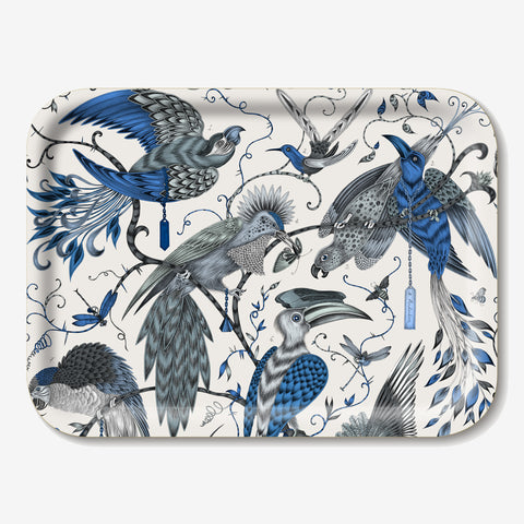 The Audubon Tray features a beautiful selection of majestic birds, hand-drawn by designer Emma J Shipley