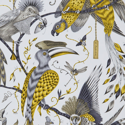 The magical Audubon luxury statement wallpaper designed by Emma J Shipley in collaboration with Clarke & Clarke