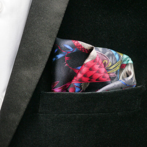 Audubon Silk Pocket Square
