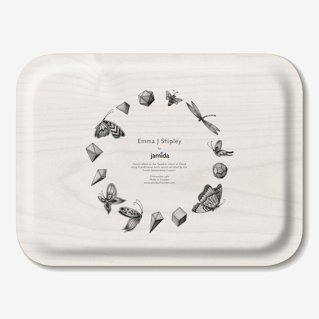 The Caspian Tray shows an array of enchanting animals created by Emma J Shipley