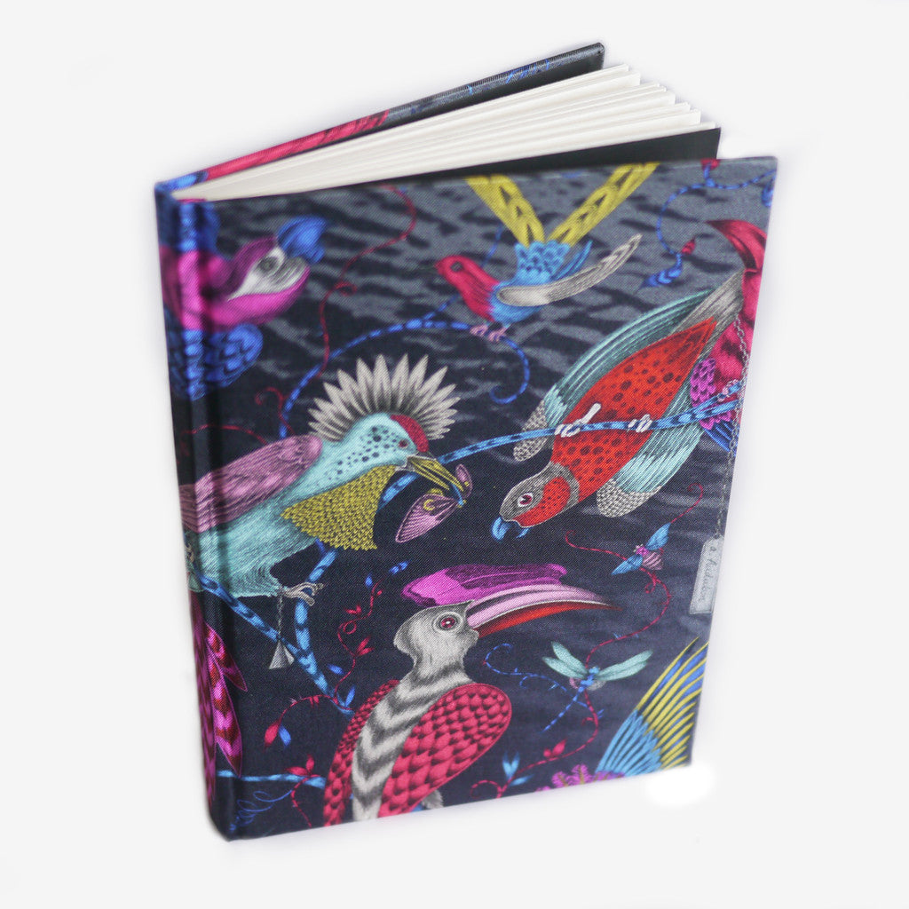 This sky inspired notebook is sustainably made using leftover silk from our scarf production