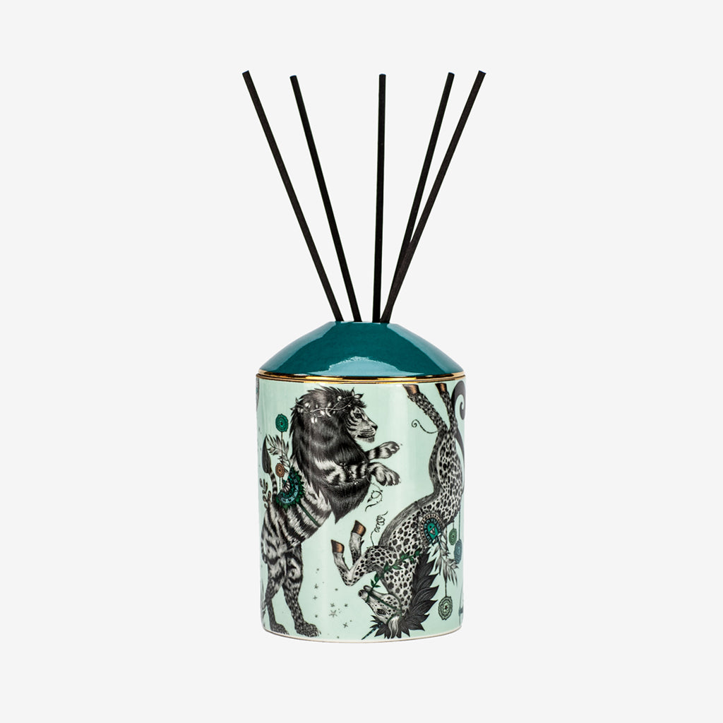 A Full look at the Caspian design from the Emma J Shipley Diffuser collection - scented with Vanilla & Sandalwood, this Diffuser will fill your home with exotic and tropical scents that will transport you to a magical escape all in the comfort of your own home