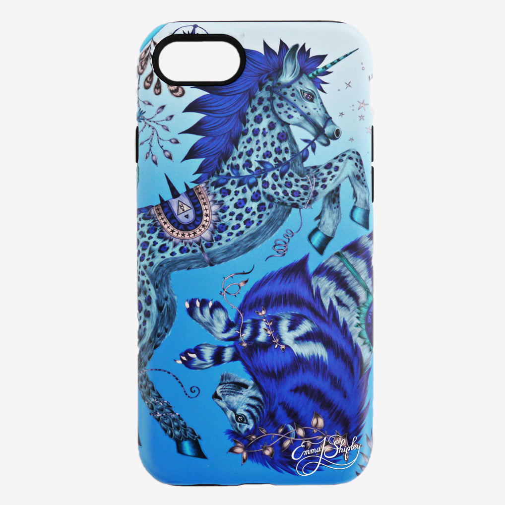 The Limited Edition Caspian Phone Case hand drawn by Emma J Shipley features a majestic unicorn and lion