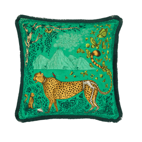 Cheetah Luxury Velvet Cushion