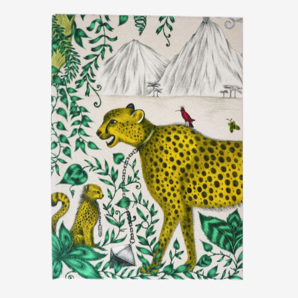 Cheetah Silk Notebook - Lined