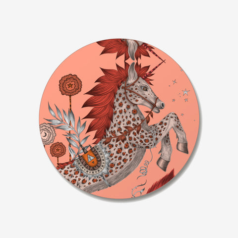 The Caspian Coaster designed by Emma J Shipley in collaboration with Jamida. The Coral animalistic coaster is the perfect fantastical table setting piece