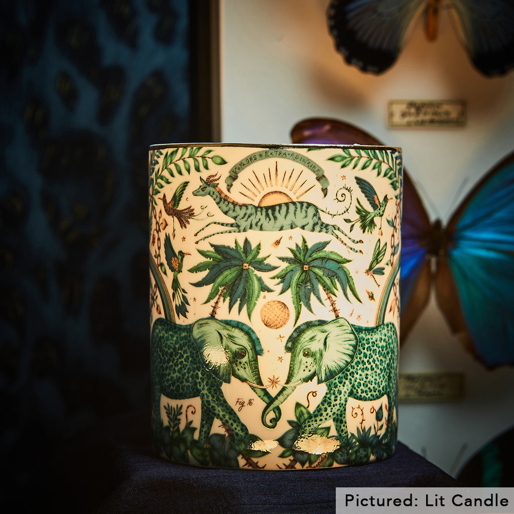 The Bone China of the Zambezi candle allows the soft glimmer of the wick to come through and allow an atmospheric glow to be thrown into your room, along with the calming scents of the candle