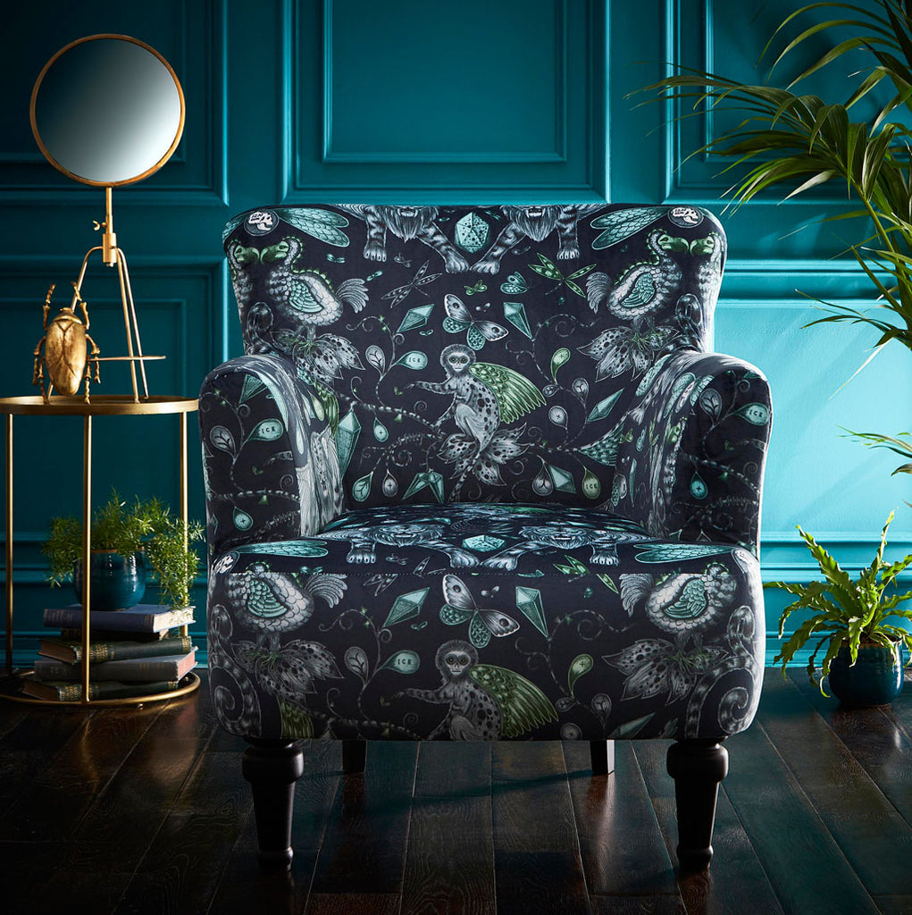 The Extinct Dalston Arm Chair is the ultimate luxury statement piece providing comfort with its modern sleek shape and injecting individuality and personality to any room
