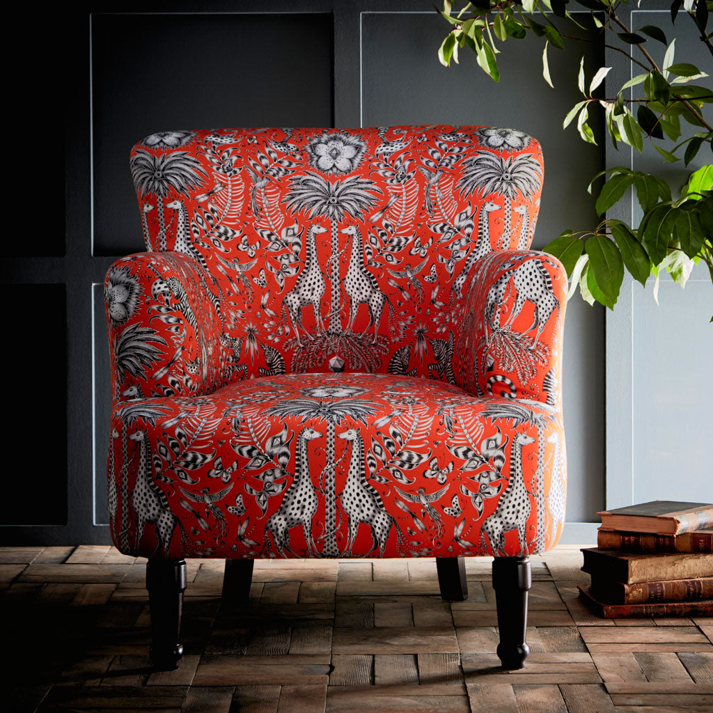 The Kruger Dalston armchair is a truly statement piece, forming part of our fantastical furniture range with Clarke & Clarke
