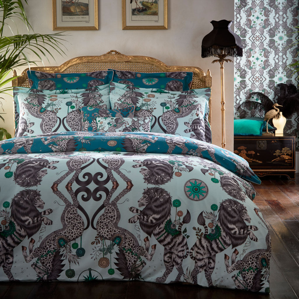Caspian Boudoir Pillowcase - Teal