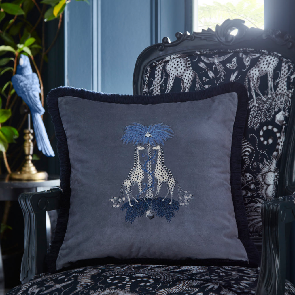 The Kruger Velvet Cushion will add an exoticism to your bed or sofa