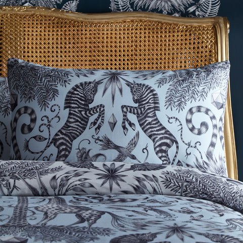 The Kruger pillowcases features magical hand drawn zebras designed by Emma J Shipley for Clarke & Clarke